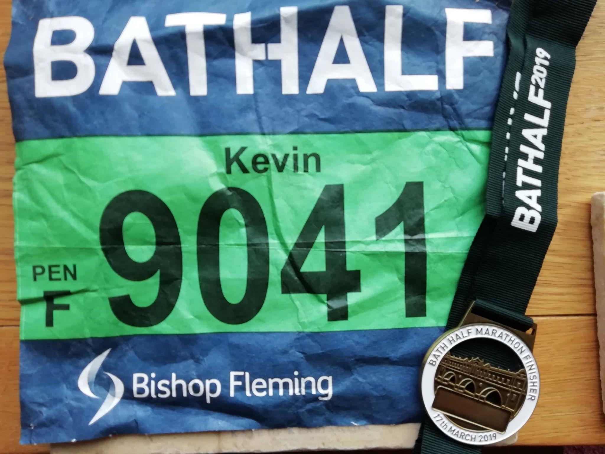 Kevins Bath Half Marathon Number 2019
