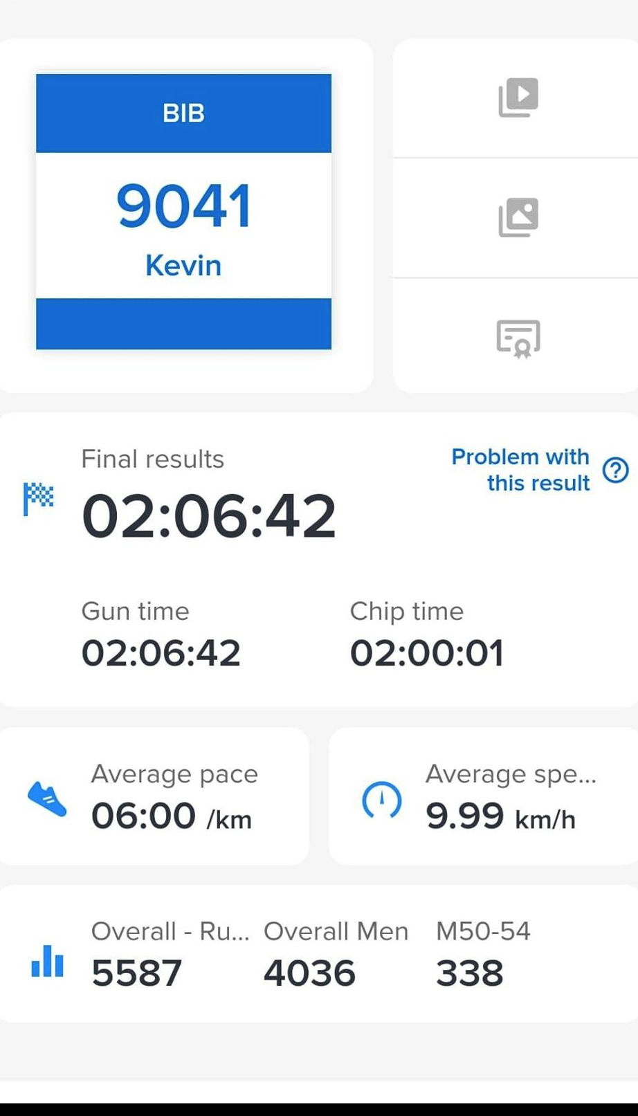 Kevin Millers Bath Half Results