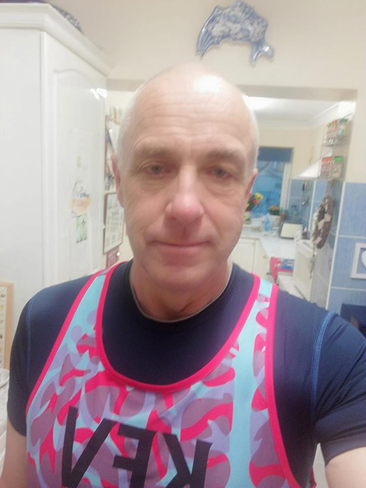Kevin Miller before 20 mile run 7-4-2019