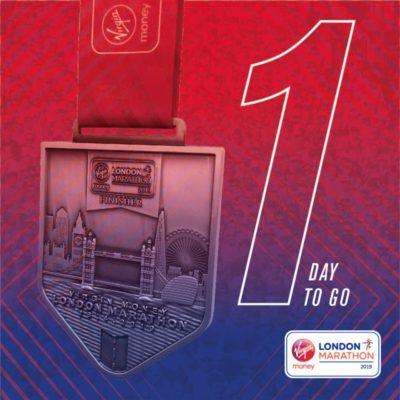One day to go for London Marathon 2019